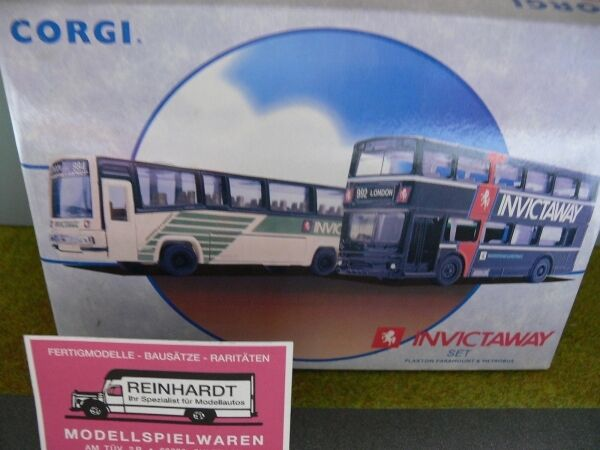 1 76 Corgi invictaway set plaxton paramount and metrobus 97051