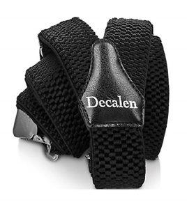 Decalen Mens Braces with Very Strong Clips Heavy Duty Suspenders One Size Fits Y