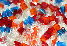 360 LEGO translucent parts mix lot - AS IN THE PICTURE small1x1