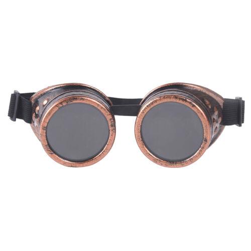 Vintage Victorian Steampunk Goggles Glasses punk biker gothic rave cosplay /_TI