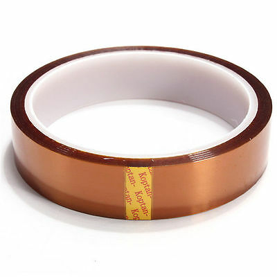20mm 100ft Gold High Temperature Heat Resistant Kapton Tape Polyimide BGA G