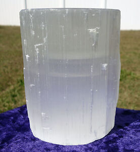 Extremely-Large-SELENITE-Candle-Holder-Premium-Quality-Crystal-Glowing-Display