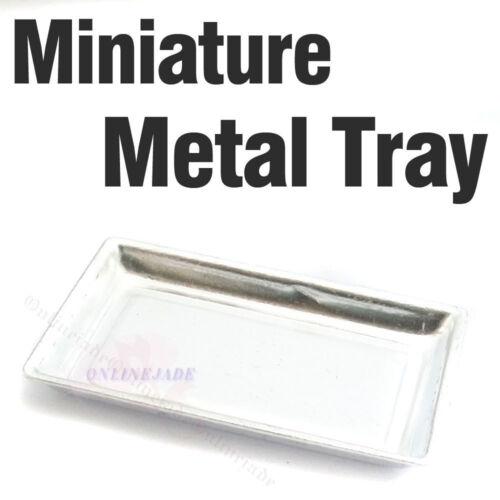 Dollhouse Miniature Metal Food Serving Tray Dish Plate Display Food 1:12 OB11