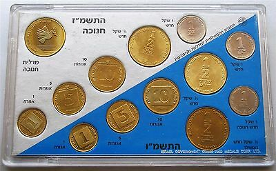 1988 Coins of Israel Official Uncirculated Hanukka Mint Set