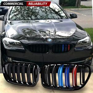 Glossy Black M-Color Kidney Grille Compatible with BMW F10 520i 528i 530i 535d 535i 550i Sedan F11 Touring 2010-2016 Kidney Grille Grill