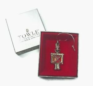 RARE-Christmas-Ornament-Gem-TOWLE-Silversmiths-TOY-SOLDIER-Silver-Plate-3321