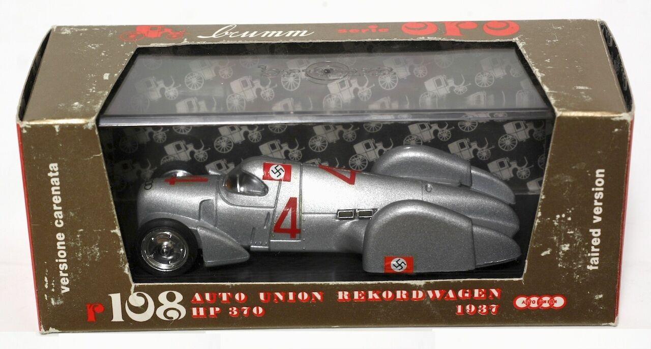 BRUMM R108 AUTO UNION REKORDWAGEN 1937 1 43