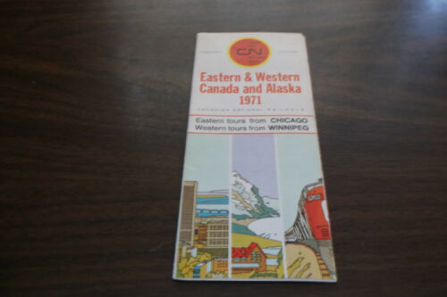 1971 CANADIAN NATIONAL TOURS EASTERN AND WESTERN CANADA AND ALASKA