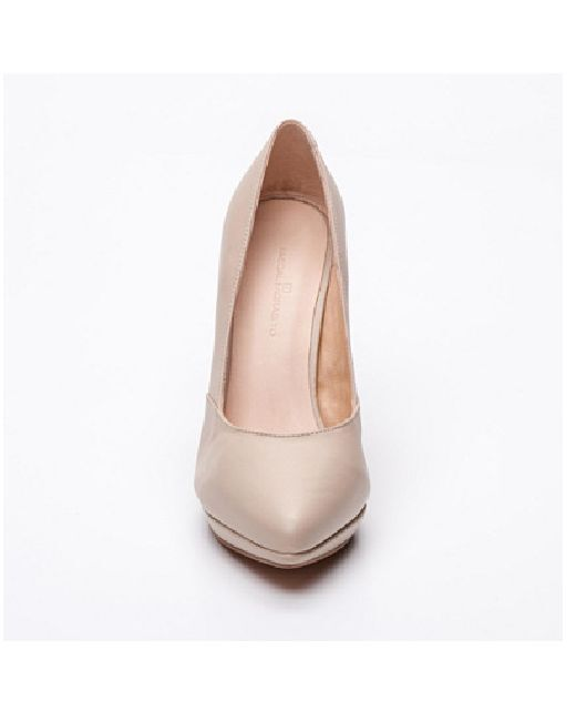PASCAL MORABITO HIGH JUDITH BEIGE LEATHER COURTS HIGH MORABITO HEELS SIZE 6 39   NEW f76ba5