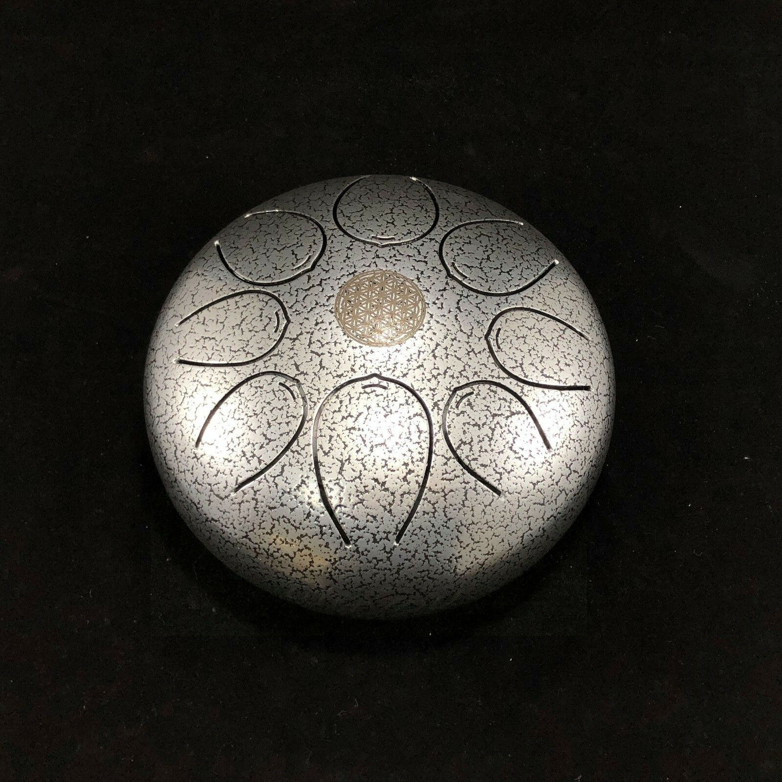 Handpan 8'' Steel Tongue Drum Scale C4-F5 Pentatonic Percussion Tank drum Sliver