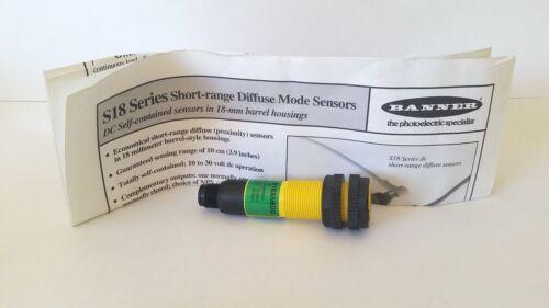 Banner Engineering Sensor S18SN6DQ 29505