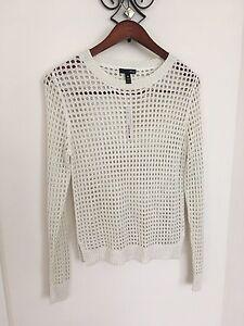 Sweater taglia M Elegant White Lace Aqua qT1tzYf