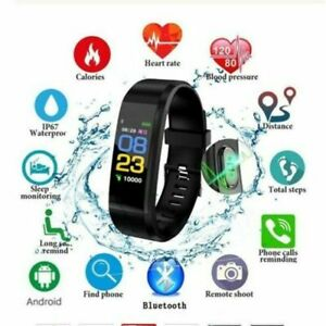 Fitness Tracker Smart Watch Pedometer Heart Rate Monitor Running Cycle Sport UK
