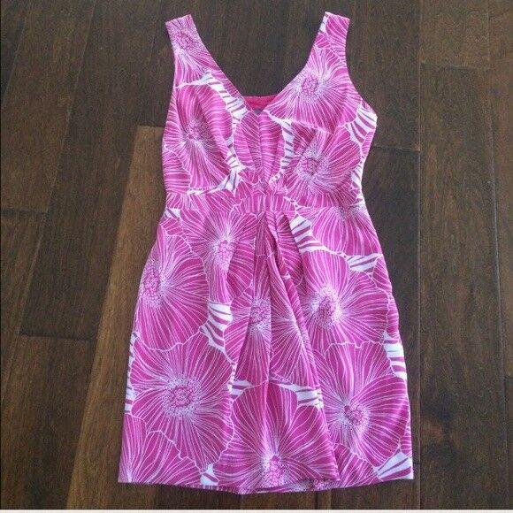 Women's Armani Exchange pink silk floral dress  A X  Size 4