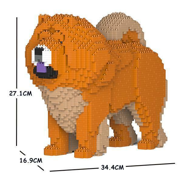 JEKCA Animal Building Blocks Kit for Kidults Chow Chow 02S-M02