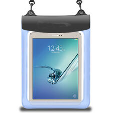Blue Waterproof Pouch Case for Samsung Galaxy Tab A 10.1 / Tab S2 9.7 / LG G Pad