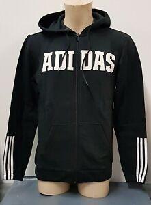 Adidas-3-stripe-logo-Men-s-Full-Zip-Fleece-Hoody