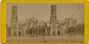 Saint-Germain-L-De-Auxerrois-Paris-Francia-Estereo-Vintage-Albumina-Aprox-1875