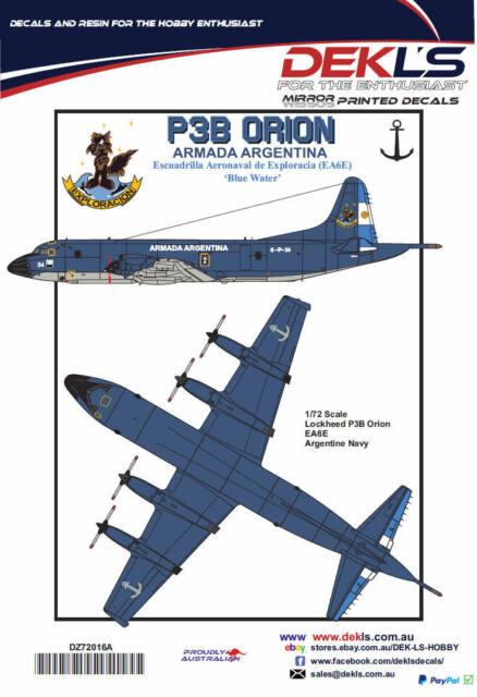 Decals P3 Orion Argentine Navy EA6E Escuadrilla Aeronavalde Exploracia 1/72
