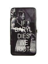 Walking Dead Daryl Dixon Black & White Ladies Hinged Fashion Wallet Very Rare