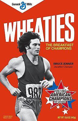 Wheaties # 11 - 8 x 10 Tee Shirt Iron On Transfer Bruce Jenner cereal box
