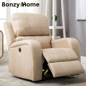 Large-Power-Recliner-Chair-Air-Suede-Overstuffed-Heavyduty-Sofa-Soft-Comfortable