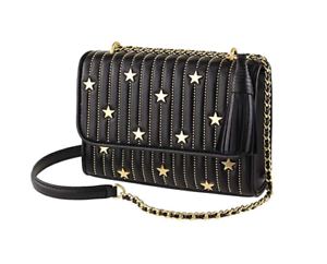 NWT-Tory-Burch-Fleming-Star-Stud-Small-Leather-Convertible-Shoulder-Bag-Black