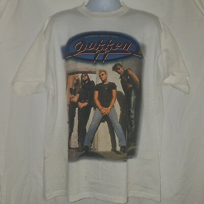 AUTOGRAPH THAT/'S THE STUFF RED T SHIRT BLACK N BLUE DOKKEN GREAT WHITE