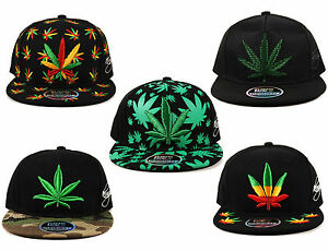 Rasta Ganja Weed All Over Leaf Lion of Judah Flat Camo Peak Snapback Cap