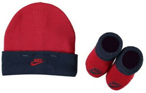 Nike Baby Geschenk 2er Set Junge Geburt Taufe Geschenkset Red Mütze Schuhe