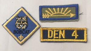 Boy Cub Scout Arrow Of Light Award Patch Bobcat Rank And Den 4