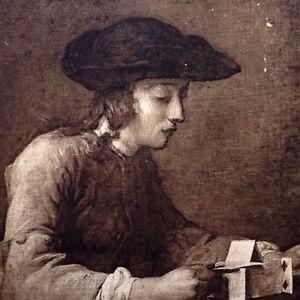 1908 Rare Jean-Baptiste Siméon Chardin Early Postal Playing Card France Artifact