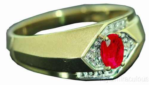 Mens Genuine Diamond /& Sapphire Ring Sterling Silver or Gold Plated Silver