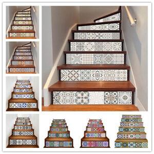 6Pcs-Vinyl-Mosaic-Stair-Riser-Stickers-Wall-Tile-Decals-Wallpaper-Self-Adhesive