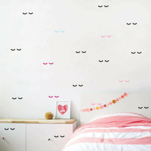 12 Pc/'s Pairs Eyelashes Wall Stickers Wall Backdrop Vinyl Poster Wall Decoration