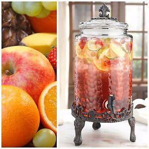 glass beverage dispenser with stand drink dispensers party jar juice 2 5 gallon ebay. Black Bedroom Furniture Sets. Home Design Ideas