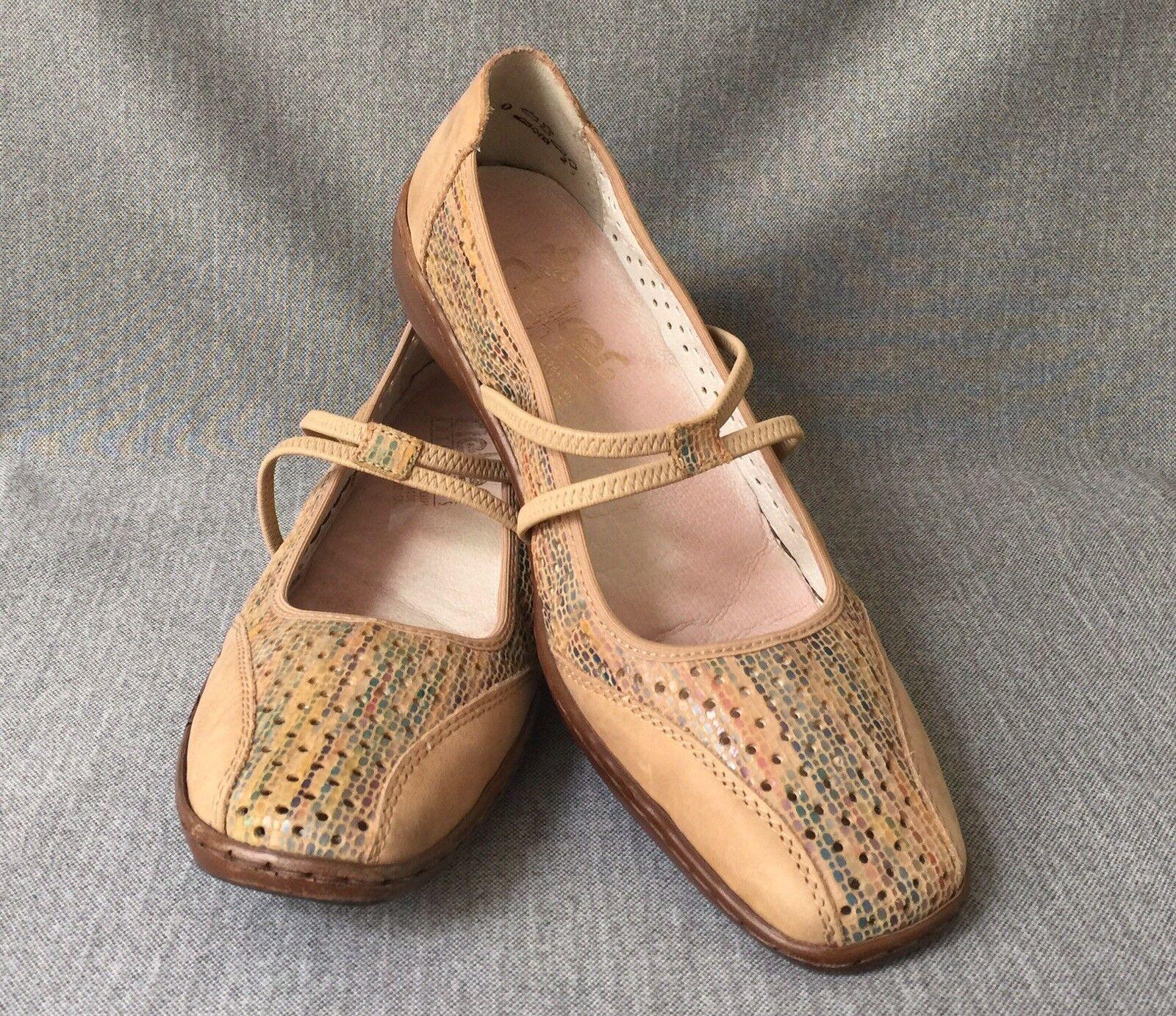 Rieker Anti-Stress TAN Comfort  shoes Flats Womens shoes EUR 41  9.5 US