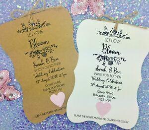 Summer Rustic Wedding Invitation Plantable Seed Paper Confetti