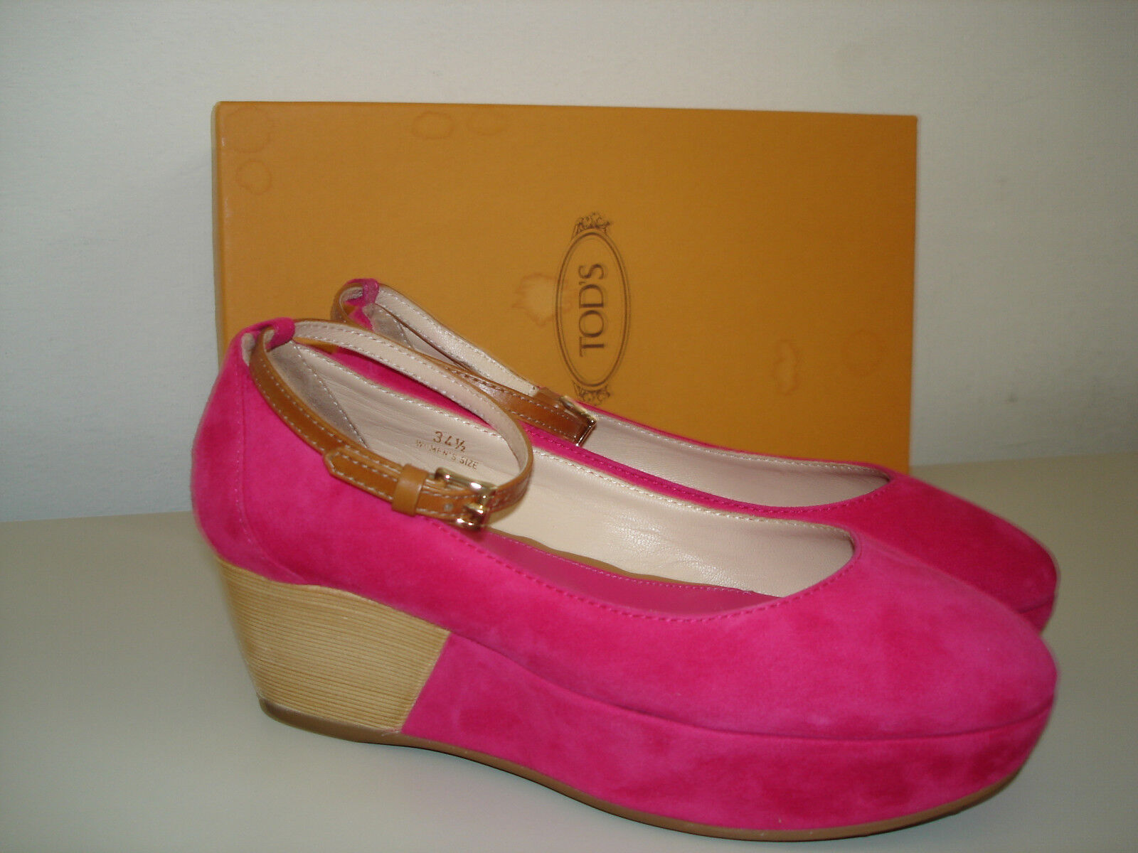 TOD`S Tods Tods TOD`S Pumps Sandalen Wedges Keilabsatz Gr. 35 fuchsia w.NEU / 425,00 Euro 7456f6