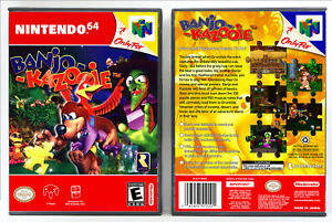 Banjo-Kazooie-Nintendo-64-N64-Custom-Case-NO-GAME