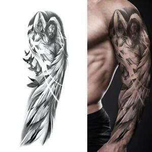 Brazo-De-Hombre-Tatuaje-Pegatina-Tatuajes-Temporales-falso-Tatoo-Body-Art-Waterproof-3D
