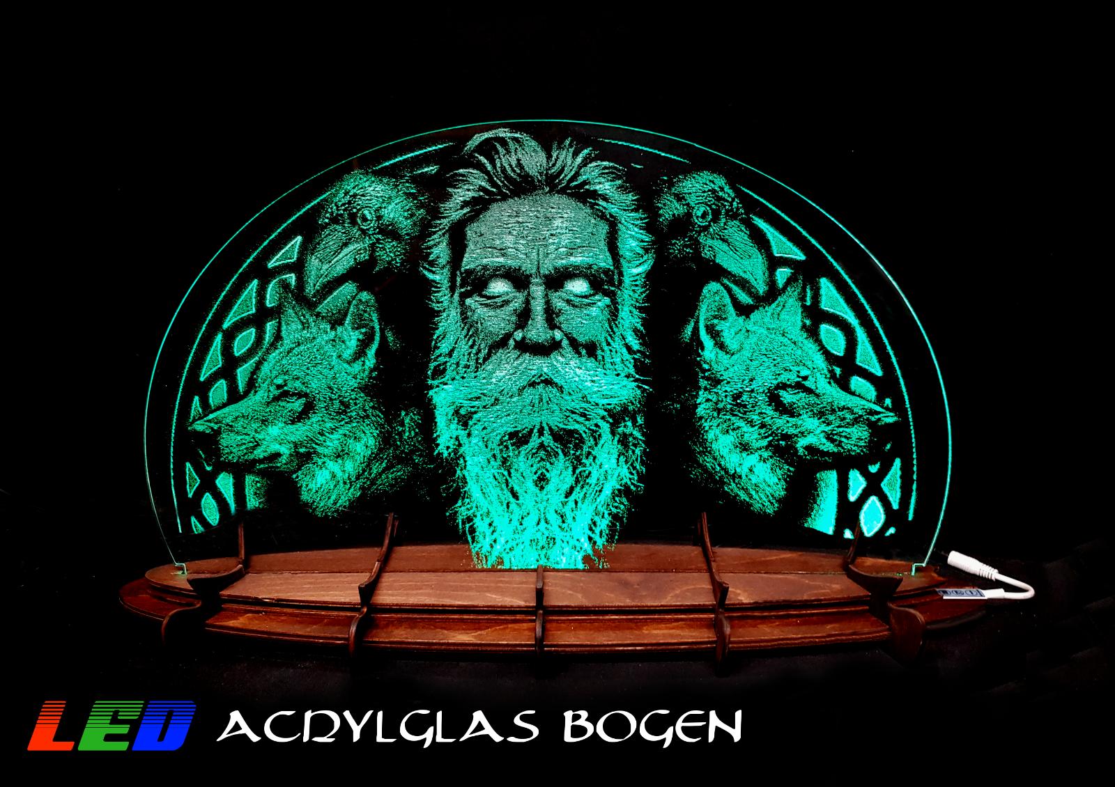 LED Acrylglasbogen - Allvater Odin - Lichterbogen RGB 3D