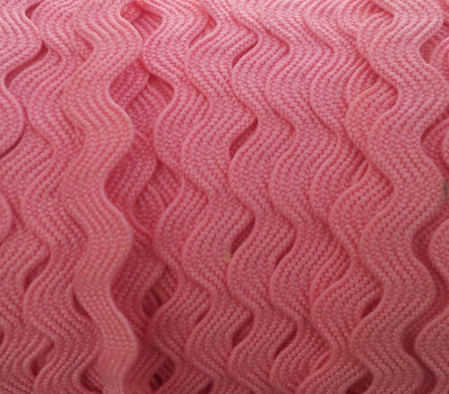 pink Ric Rac Zig Zag Ribbon Trim Tape Retro Vintage Sewing Dress 4 Metres length