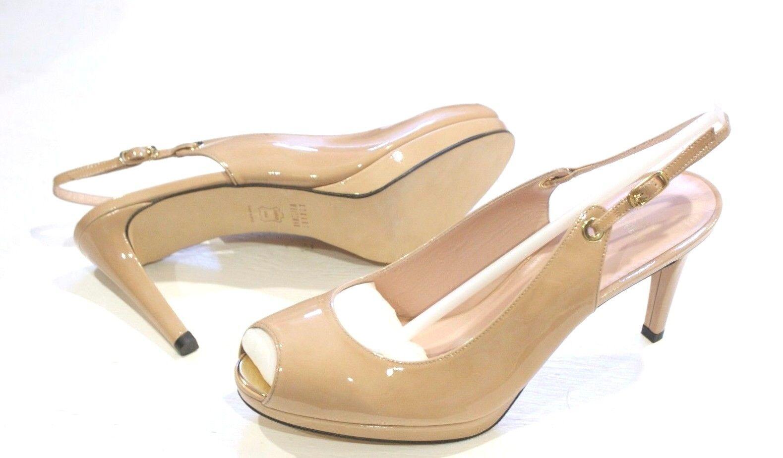385 Stuart Weitzman es patente Slingback zapatos zapatos zapatos de tacón de plataforma para mujer 11 Nuevo  calidad garantizada