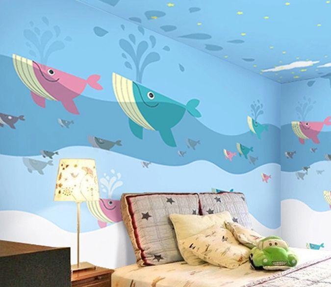 3D Bezaubernd Hai 15 Fototapeten Wandbild Fototapete Bild Tapete Familie Kinder