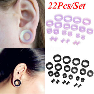 22Pcs-Flexible-Silicone-Ear-Flesh-Tunnels-Plugs-Gauges-Expander-Stretching-Kits