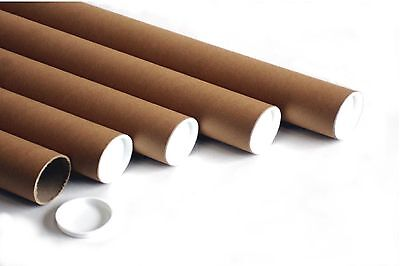 Postal Tubes - Quality Extra Strong Cardboard A4 A3 A2 A1 A0 + Plastic End Caps