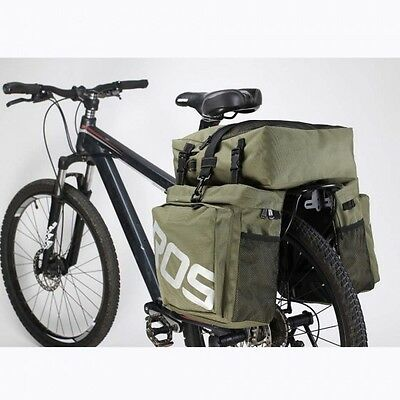ROSWHEEL 3 in 1 Road MTB Mountain Bike Bag Bicycle Pannier Rear Seat Trunk Bag