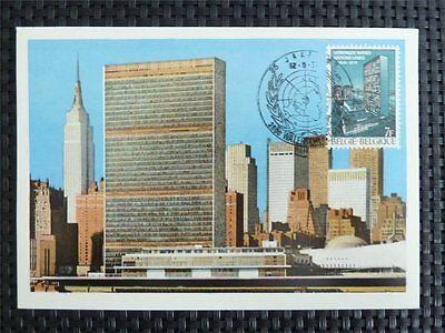 Trustful Belgien Mk 1970 Uno Onu Maximumkarte Carte Maximum Card Mc Cm C4554 Stamps