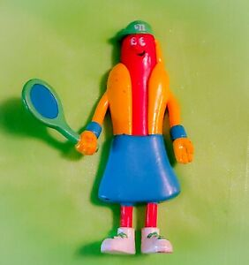 AUTHENTIC 2000 NATHAN'S FAMOUS HOT DOGS 5 INCH COLLECTIBLE POSEABLE RUBBER TOY